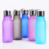 2016 hot item sports frosted plastic water bottle,fance plastic bicycle bottle with BPA free