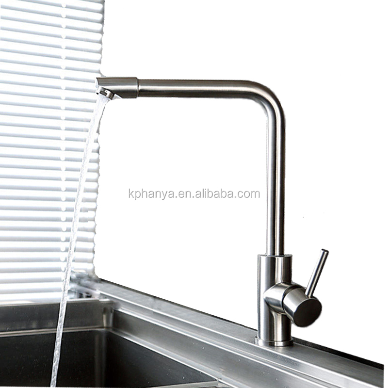 Sus304 Stainless Steel Kitchen Faucets Brushed Mixer Water: Sus304 Stainless Steel Lead-free Kitchen Faucet Mixer Tap