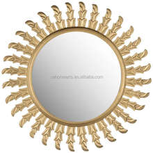 Hotel factory wholesale gold burst wall decor