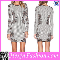 brown mesh printed celebrity bandage bodycon dress wholesale