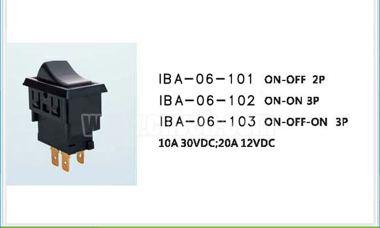 AS05 IBA-06-101 2P or 3P 10A 30VDC auto on off /ON-ON/ON-OFF-ON 20A 12VDC auto switch