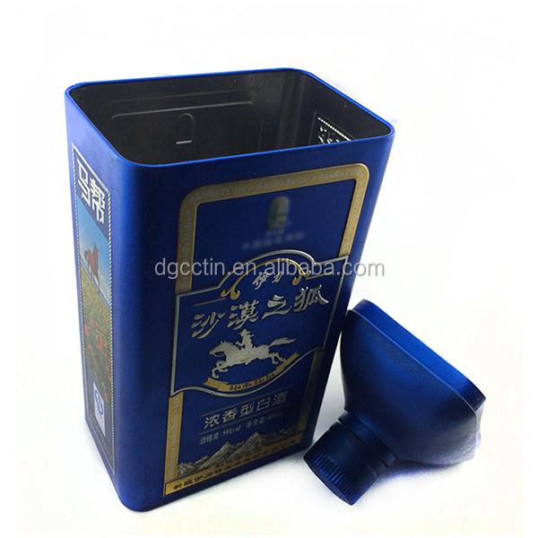 Custom printed high quality wine storage tin box with airtight lid