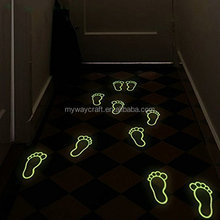 Luminous Footprint Footed Stickers Floor Feet Decal Home Kid Room Decor Directions