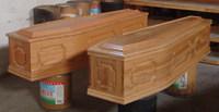 UK style plywood cheap coffins