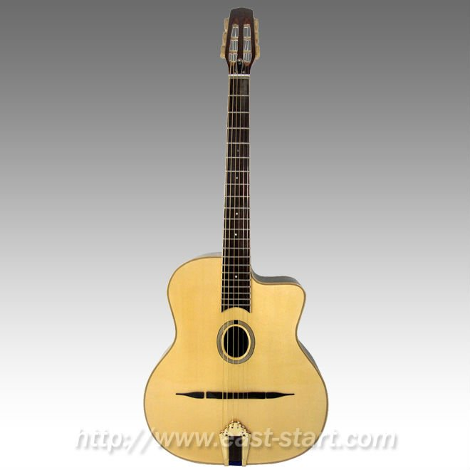 ESG-560 All Solid Oval Hole Handmade Gypsy Jazz Guitar