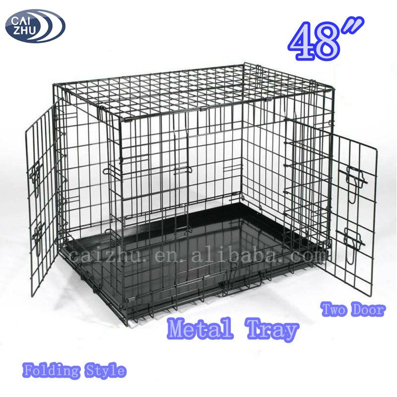 Iron folding fabrci cheap dog crate