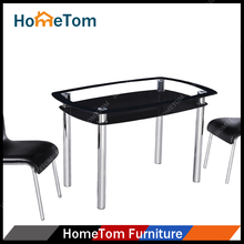 Cheap Price 8mm Top Tempered Glass 4 seater Dining Table for UK