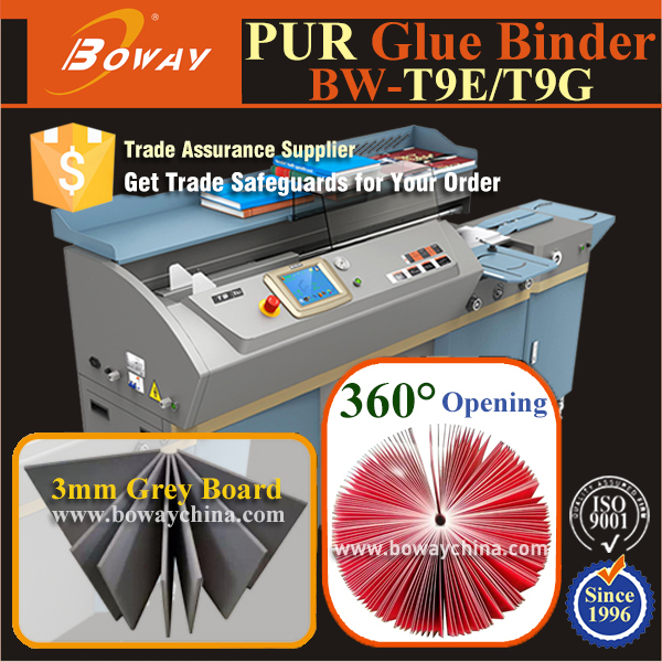 BOWAY 2 in 1 hot melt glue EVA PUR perfect book binding machine