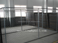 dog run 10' x 10' x 6' /chain link animal cage/dog kennels/Pet accessory chain link dog kennel