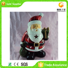 Fashionable Competetive Price Pottery Santa Chimney Cookie Jar