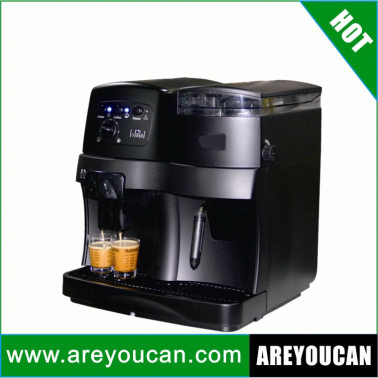 Italy style automatic coffee machine with ABS outer shell silver cover