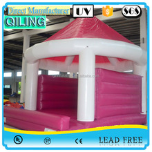 New design Pink small mushroom inflatable bouncer customized inflatable jumping house, adult baby bouncer for sale