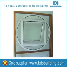 tempered glass aluminum round and awning outside window