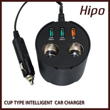 Hipo Wholesale New High Quality Universal 3 USB Cell Phone Car Charger in Shenzhen