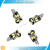 Car Auto LED T10 194 W5W Canbus 10smd 5630 5730 LED Light Bulb No error led light