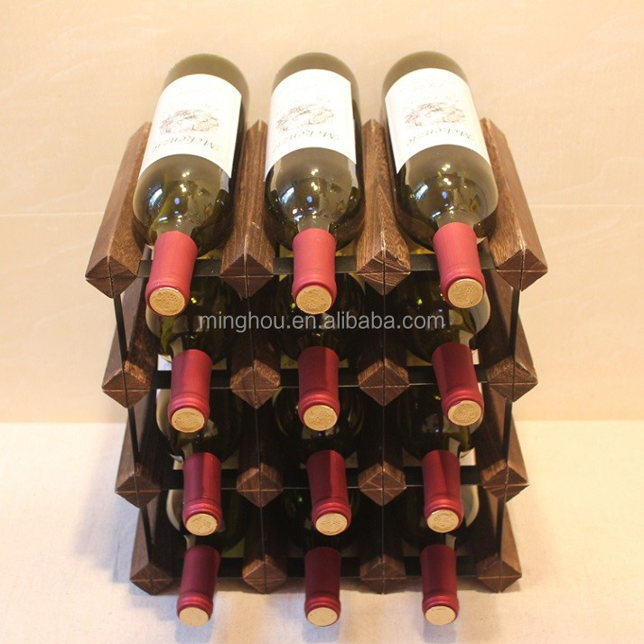 12 Bottle Wine Rack,2015 Antique Wooden Wine Rack