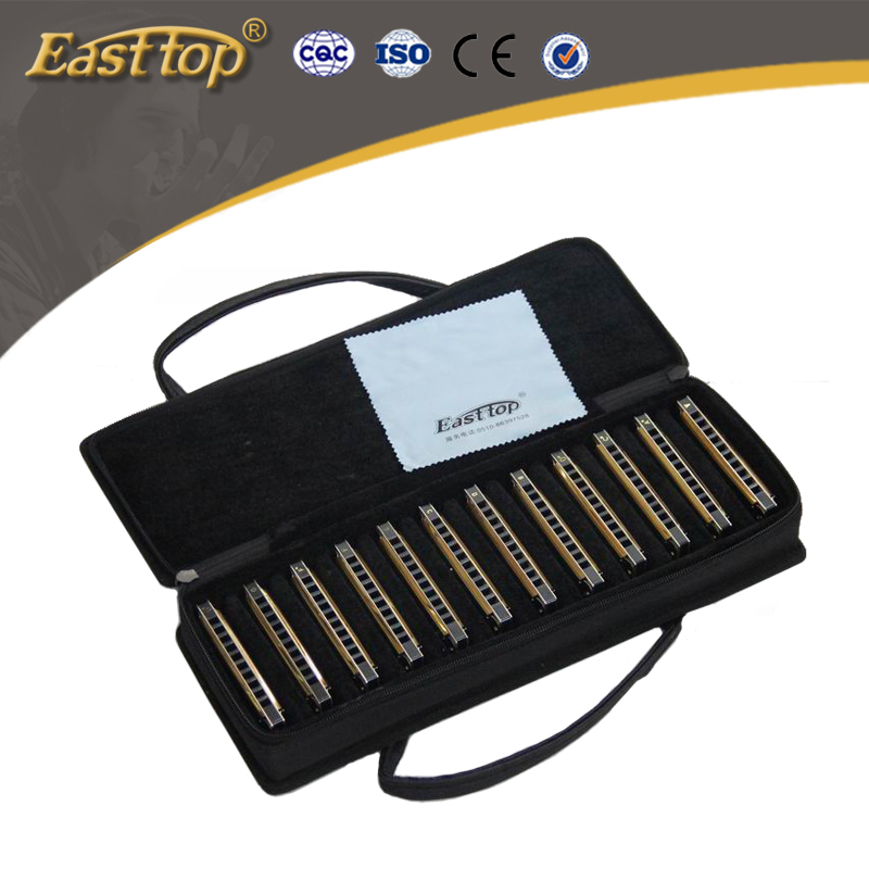 EASTTOP T10-<strong>12</strong> 10holes set harmonica with twelve keys