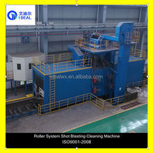 H Beam Steel Sheet Profile Shot Blasting Cleaning Machine Roller Conveyor