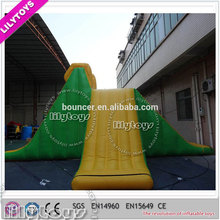 durable Plato PVC high quality giant inflatable water toys green inflatable water slide