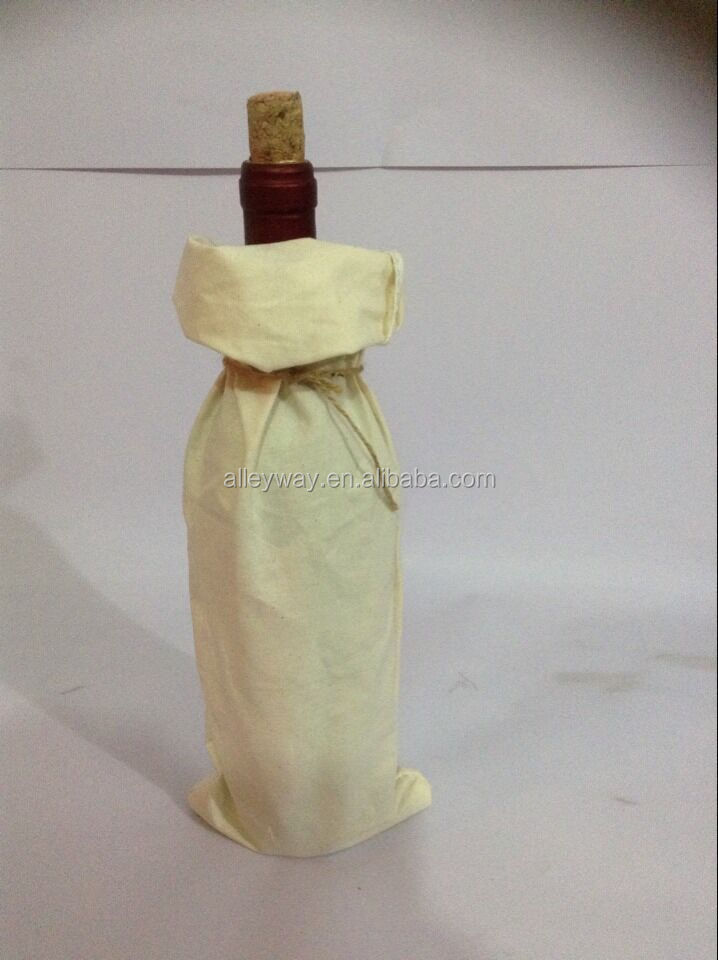 45cm x 14cm cotton wine bag