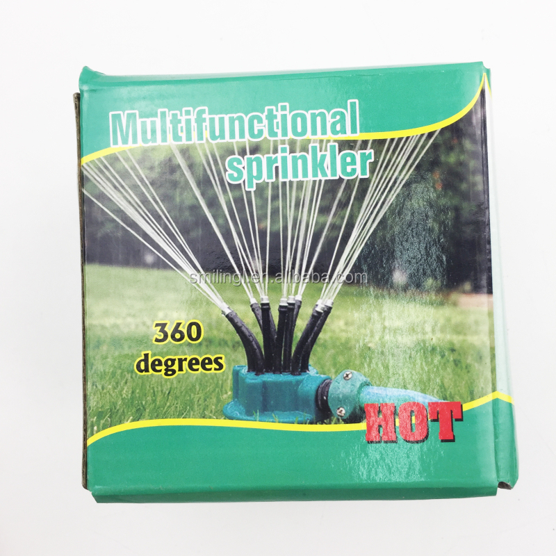 360 degrees noodle head multifunctional Lawn and Garden water Sprinkler