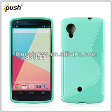 X shape and matte frost tpu gel case for Google/LG Nexus 5
