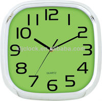 Craft Resin Clock Square Silvery Frame