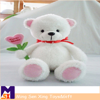 Wholesale mini white teddy bear doll, small soft cute lovely bear toy