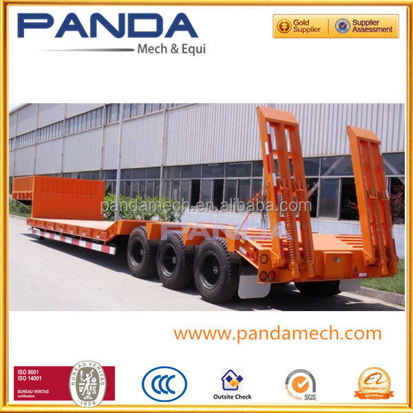 2015Top Ranking construction machine transport 3lines lowboy 6Axles 120Tons Low Bed Semi Trailer for Heavy Duty Transportation