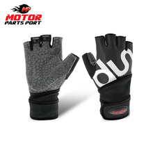 Custom motorcycle bike sports driving fingerless gloves