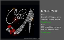 High Heeled Shoes Rhinestone Transfer,Sequins Any Custom hot fix Rhinestone Heat Transfer Motif,<strong>Design</strong> for PU PV bag clothes