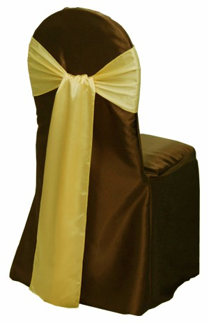 hotel wedding banquet satin fabric chair sash