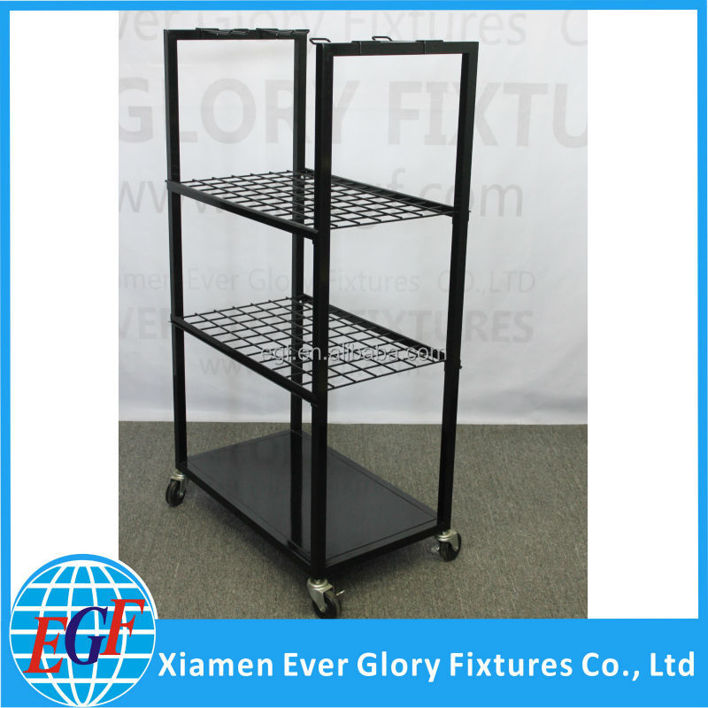 Supermarket Metal Standing Purse Rack, High Quality Metal Handbag Stand