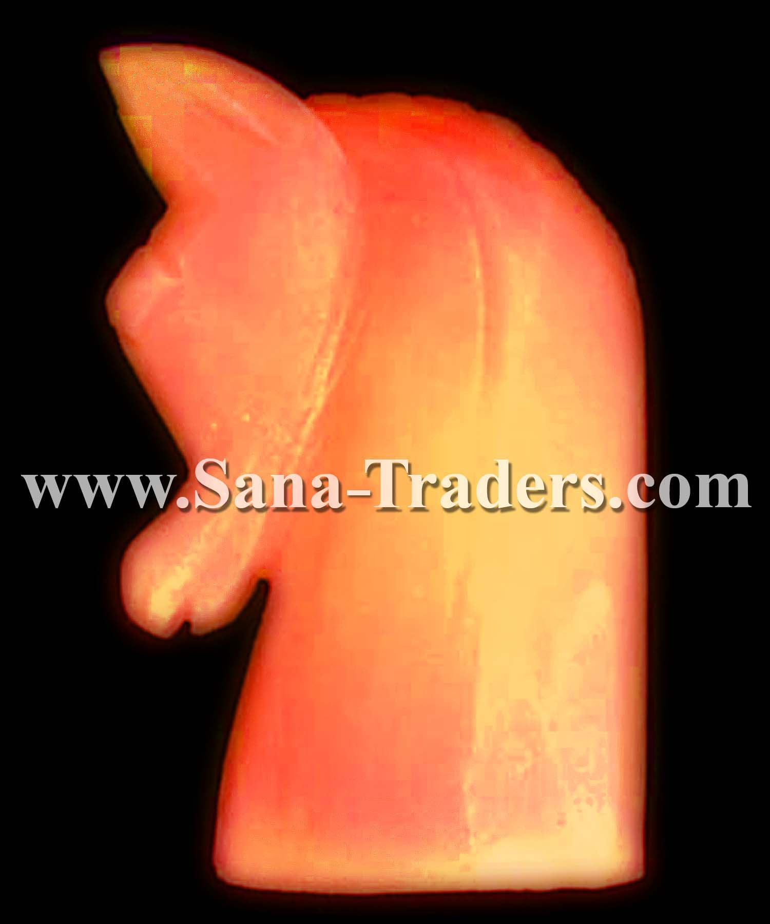 Natural Himalayan Rock Salt Designed Horse Lamp