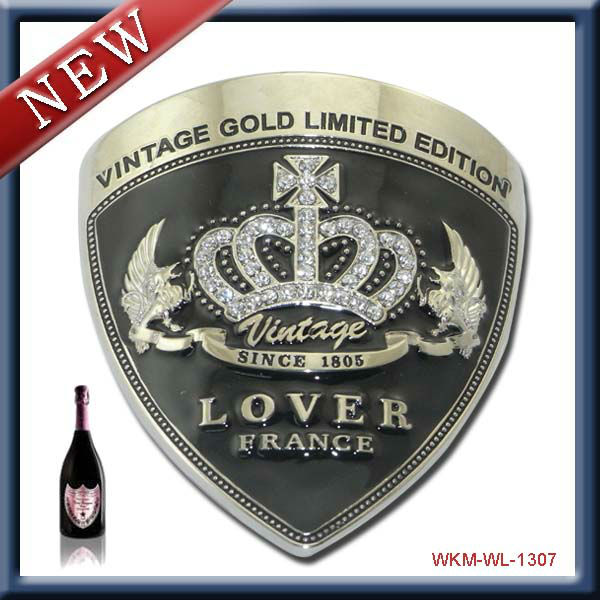 zinc alloy famous wine label