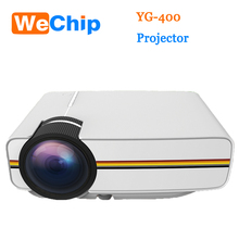 Wholesale YG 400 Mini Projector, Portable LED Projector Home Cinema Theater with PC