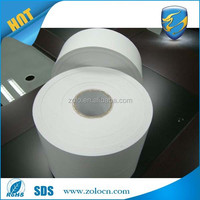 Custom printed white vinyl adhesive label roll/brittle destructive security label papers/blank destructible vinyl material