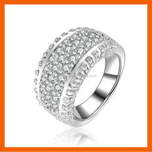 LT JEWELRY 2017 LATEST FASHION 925 SILVER RINGS DIAMOND O RING WITH SMALL ZIRCON AAAAA RING FOR WEDDING ENGAGEMENT
