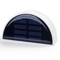 solar energy charge outdoor garden polysilicon solar panel led wall light