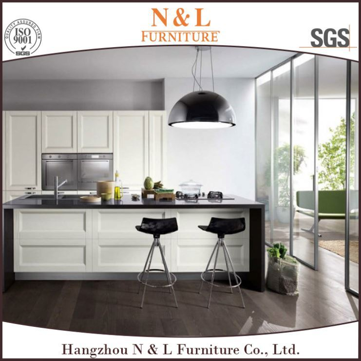 Modern kitchen furniture White High Gloss lacquer finish Kitchen Cabinet for hotel project,kitchen