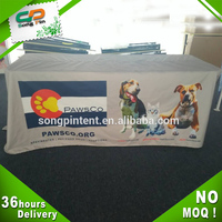 custom square polyester printed tablecloth for outdoor display