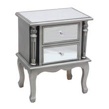 Silver Coast Mirrored End Table,mirrored <strong>furniture</strong> like mirror bedside table makes a bright luxury bedroom