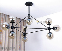 modern chandelier with glass ball