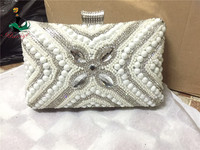 Haniye SGB17-1 white hot sale envelope clutch bag for women for paty