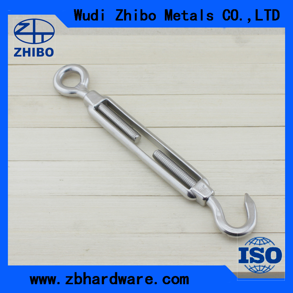 6mm Stainless Steel Hook to Eye Screw Turnbuckle for Shade Sail Accessories