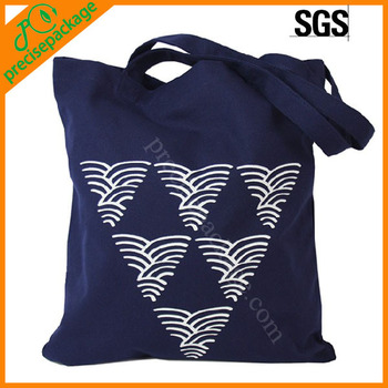 Reusable wholesale plain quilted cotton canvas tote bag with logo