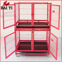 Stock Square Tube Metal Dog Cages Large / Dog Show House