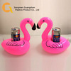 floating inflatable flamingo cup holder coolers for swim pool party