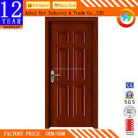 2016 New Modern Bedroom Door Design High Quality Wooden Door Pattern Waterproof Endurable PVC Interior Door
