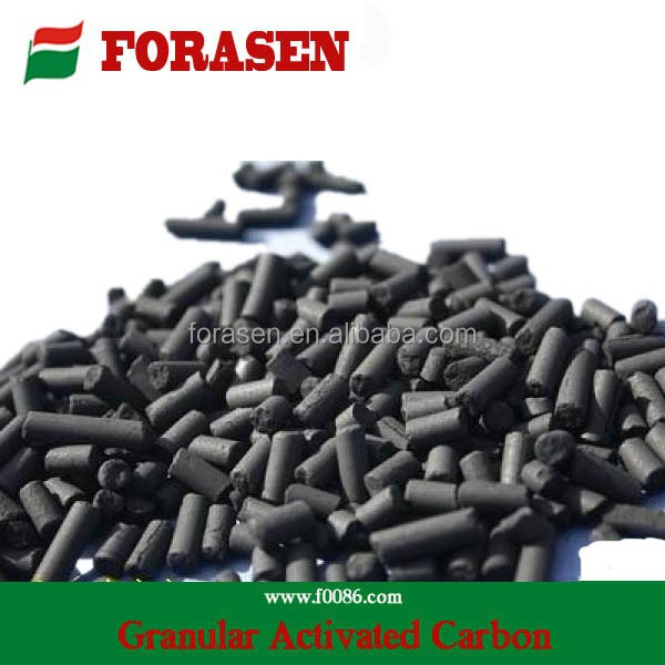 Chemical formula granular activated carbon for benzene removal